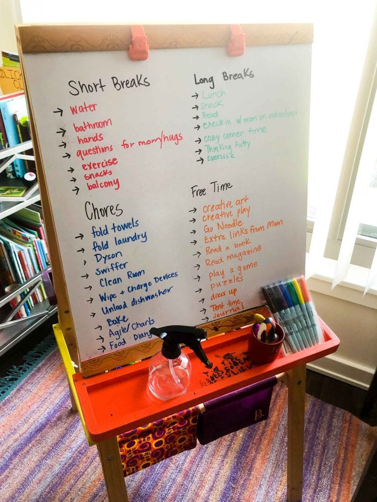 School-At-Home Organization Ideas