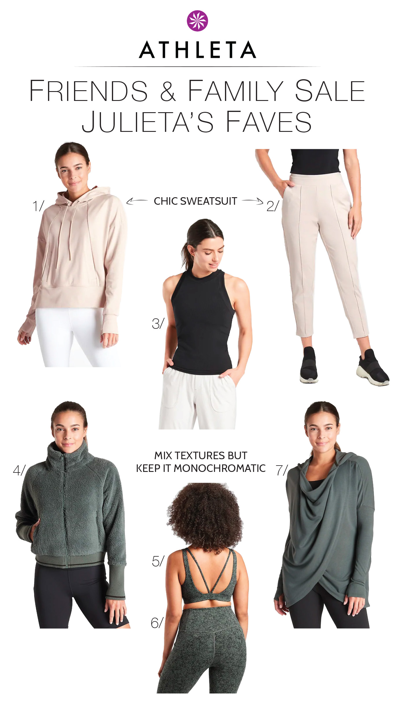 The Mom Edit LOVES Athleta. Super-functional activewear + cute styles & comfy fits -- sustainable & plus-size options, too. A loungewear win.
