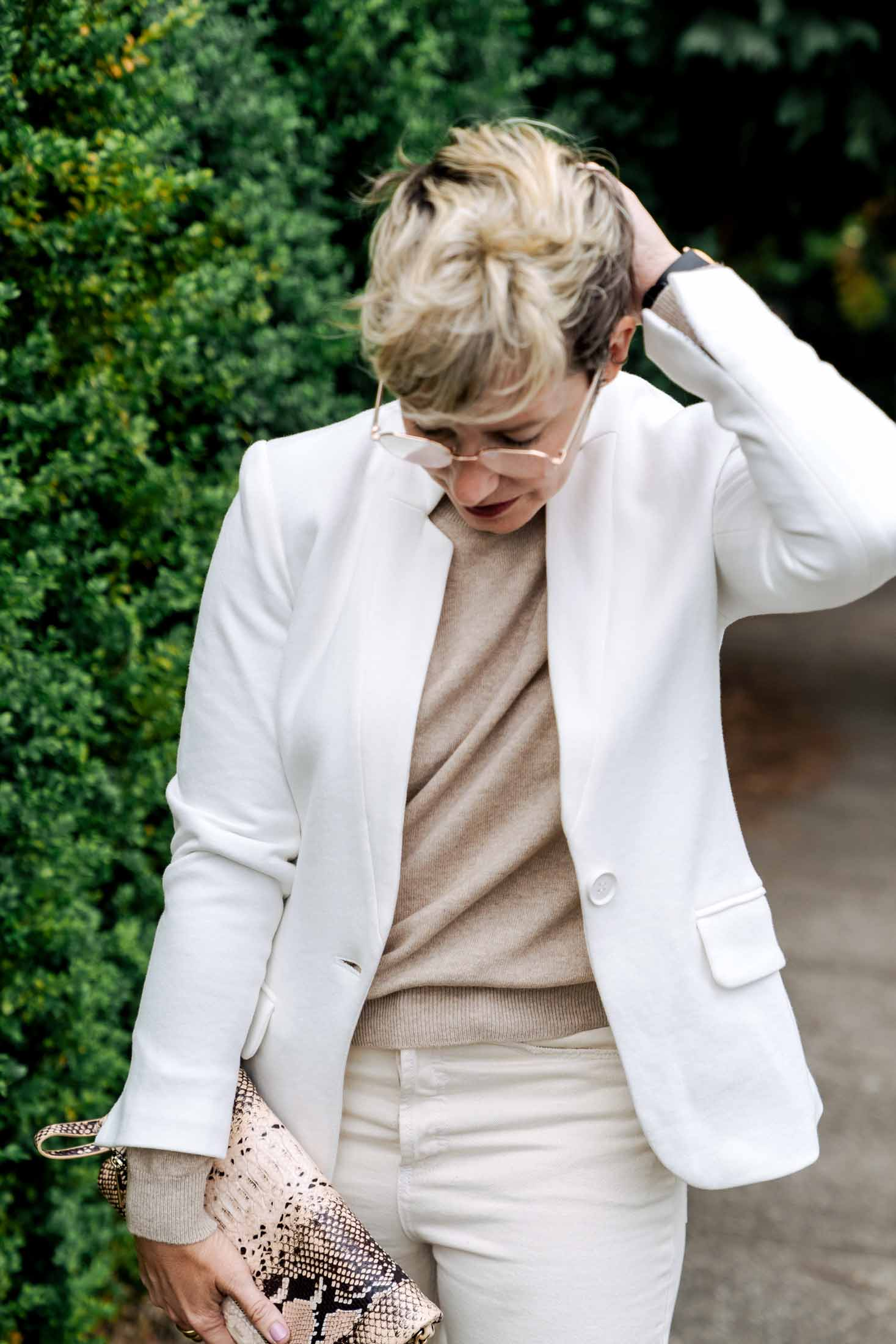 The white blazer --a closet staple we didn't know we needed -- makes any outfit feel fresh & sharp. Wear it monochromatic or w/ a pop of print.