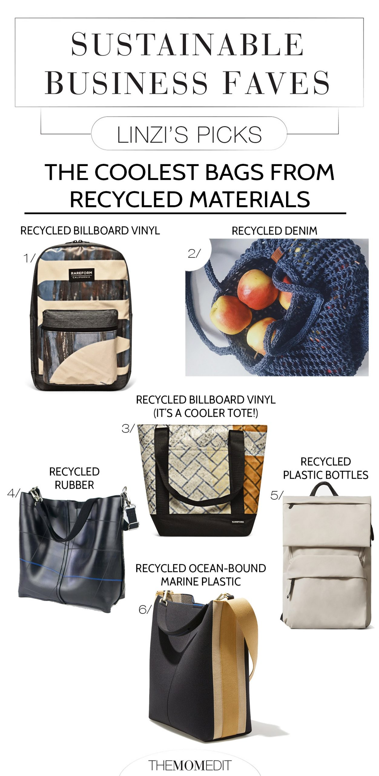 From EILEEN FISHER to Levi's 501 & NAADAM, our fave brands bring cute sustainable products we love -- the sneakers & bags are good, too.