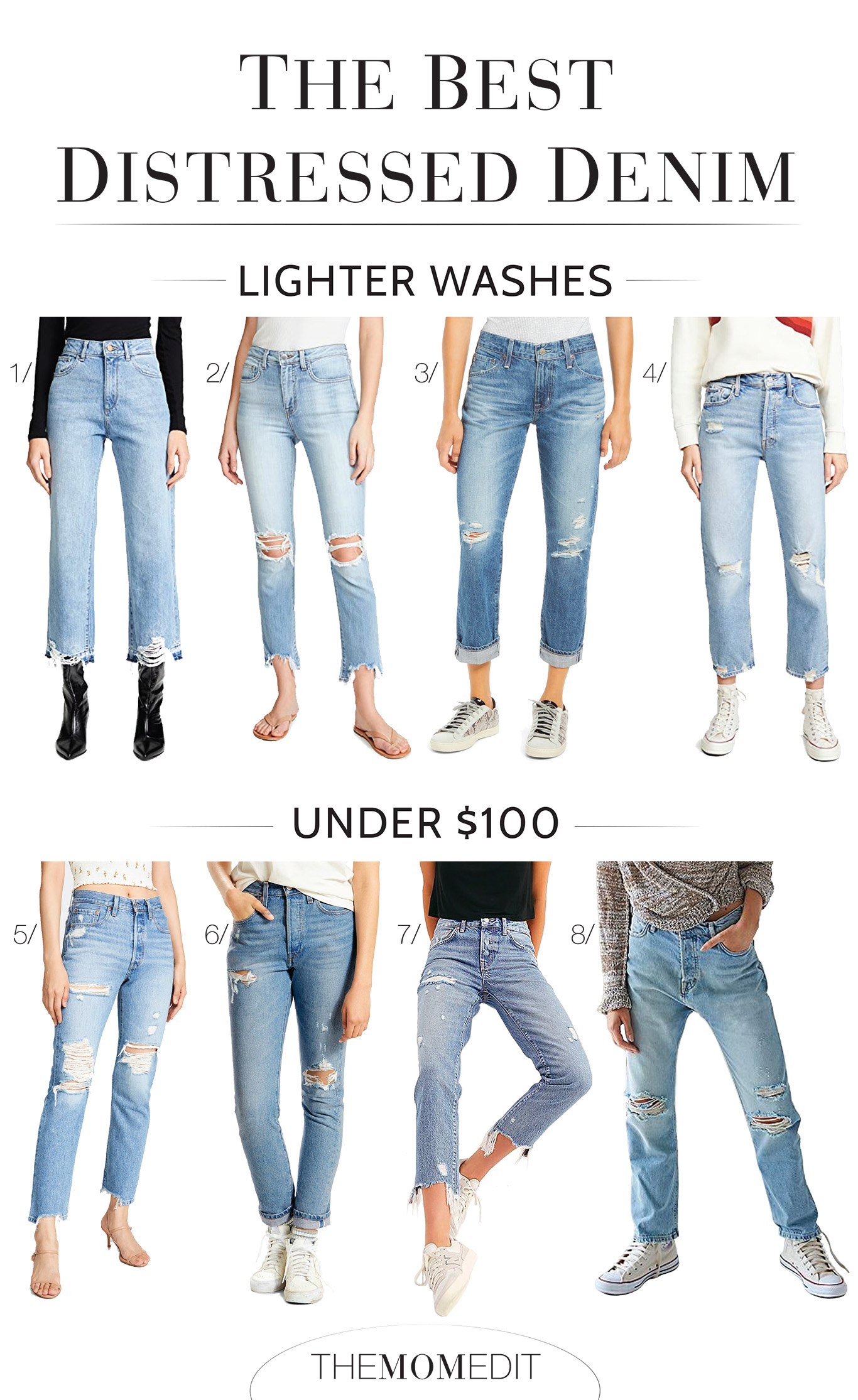 Our fav distressed jeans, in light, dark & black washes, for every budget & possibly every category. Skinny, curvy fit, plus-size, high-rise...