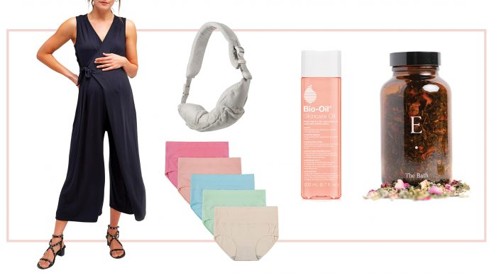 Zella maternity leggings, a nursing jumpsuit & some healing skincare: a new mama essentials list for pregnancy & postpartum. You need this.