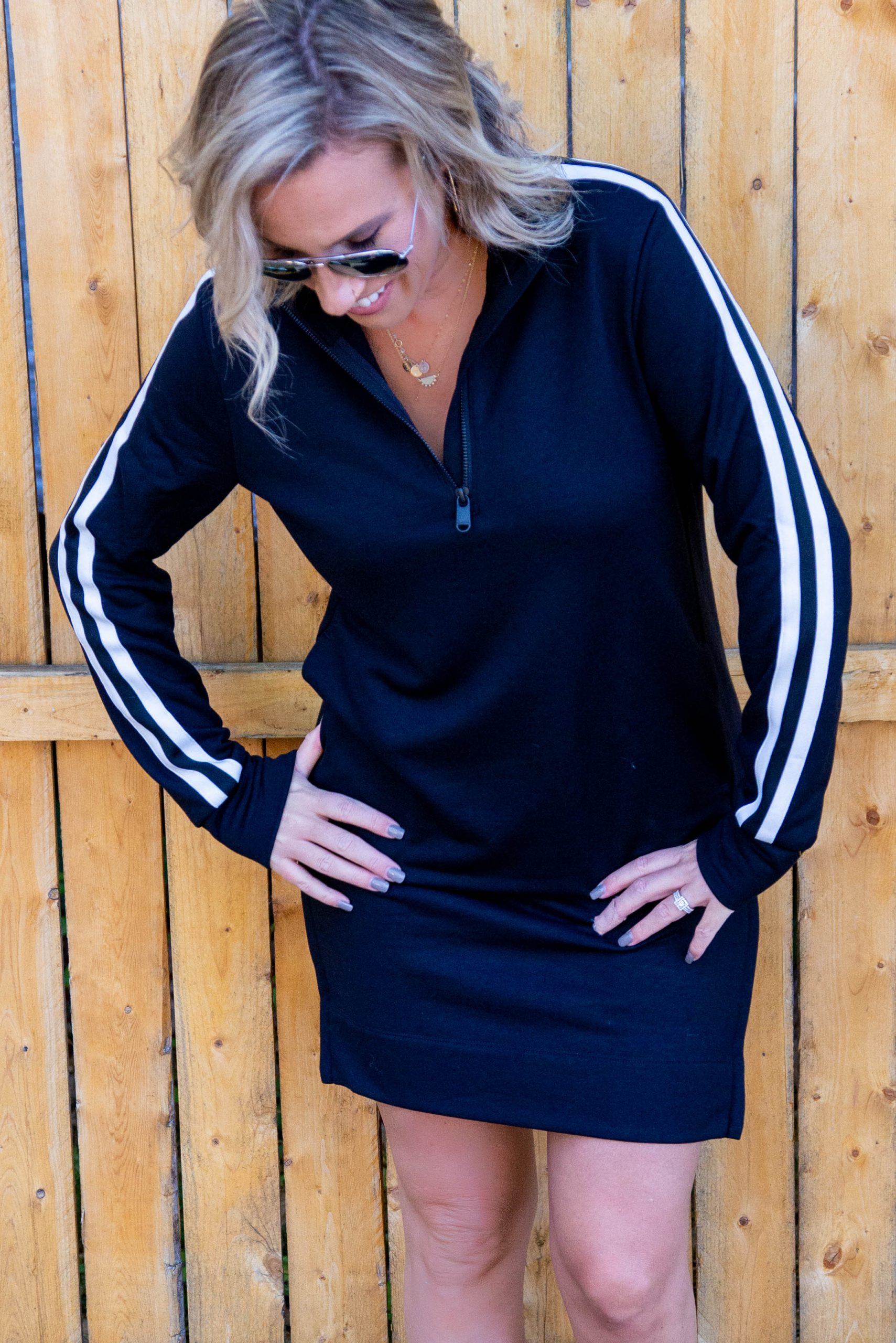 We fell for Athleta at just the right time. These cozy Salutation joggers, this cute Crosstown track dress...Seriously swoonworthy loungewear...