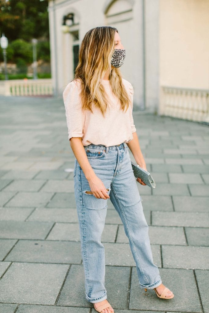 We're so intrigued by relaxed, straight-leg denim -- still high-rise, but also super-comfy. Here are 4 cute ways to style the Topshop dad jeans.