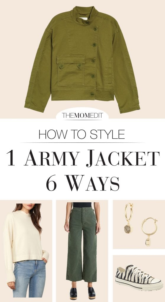 Classic army green military jackets are timeless, so we're offering 6 fresh outfit ideas for those utility/field (whatever-you-call-'em) jackets in your closet.