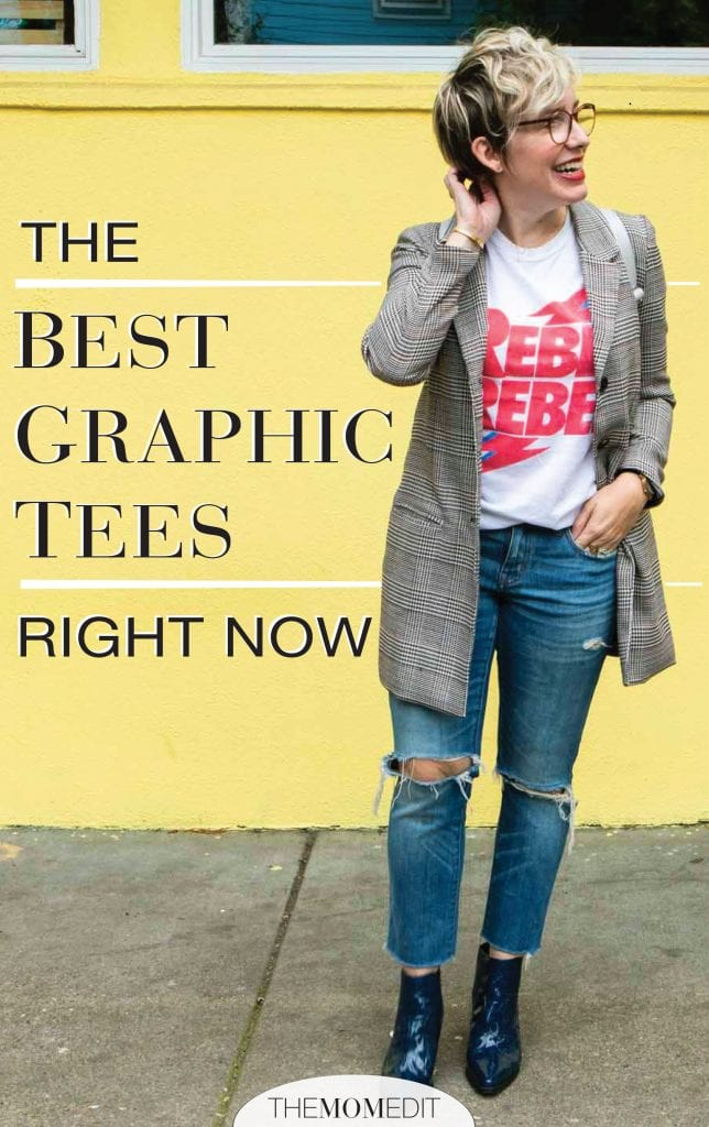 Well-vetted t-shirts add a li'l somethin' to sporty, casual outfits, & even slightly dressy outfits. The best graphic tees for women...inside.