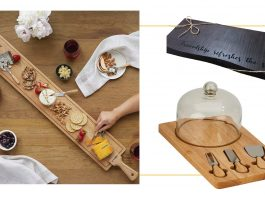 We found 14 gorg, functional charcuterie boards. Lovely for simply displaying cheese, meet, lunch, dinner or snacks. Boards make great gifts, too.