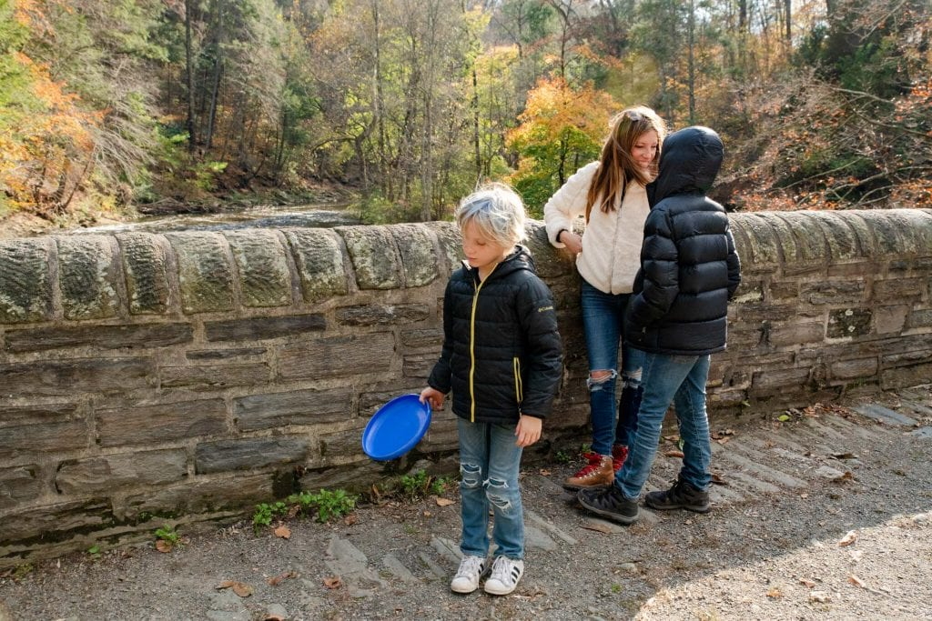 Hiking the trails in the Wissahickon Valley of Philadelphia is gorgeous — & also...quaint. Our family-friendly outing (+ what to wear hiking,) inside.