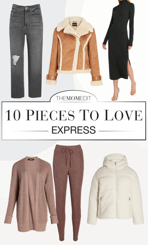 Express has some **v. exciting** #StayAtHome basics, especially for upcoming holidays. So. Here are 10 easy, quarantine-style pieces...w/ a holiday twist.