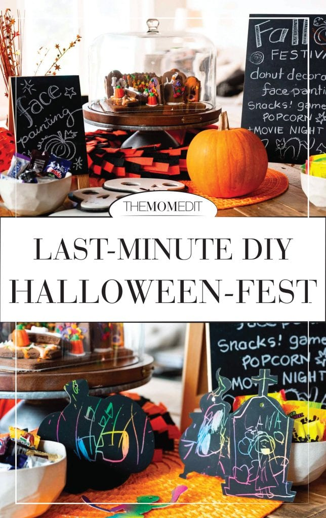 At-home Halloween — on it! We're going all-in (but low-key) w/ DIY kids' activities, games & a backyard party for a fun family fest. 10 how-to steps.