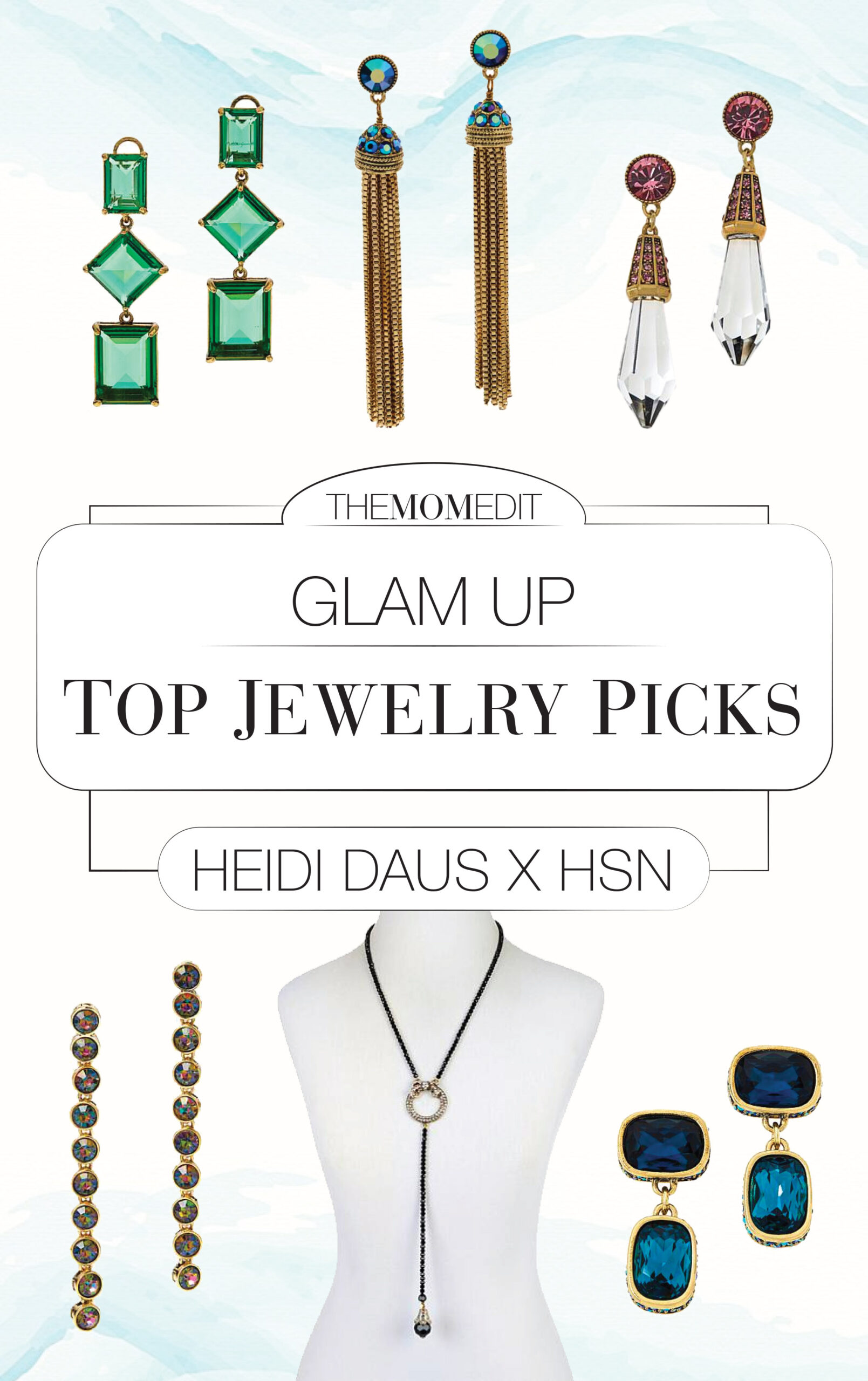 Fashion jewelry from Heidi Daus (via HSN & a coupon code) is a fab way to glam up Zoom sweaters or ant outfit. Wearable art for the virtual life? YES.