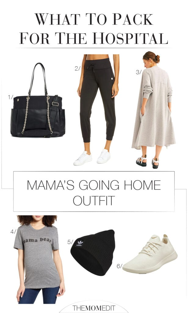 It's here! The ultimate maternity hospital bag checklist for birth. Loungewear for mom-to-be, going home outfits for newborn & mama — + the essentials!