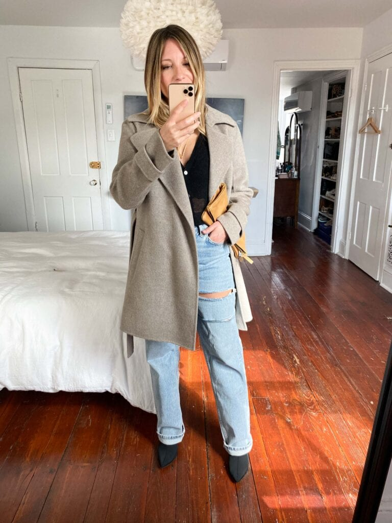 The EILEEN FISHER Linen Cardigan is such a sexy sweater, we found 6 stylish ways to wear it -- w/ jeans & jackets to dresses & loungewear.