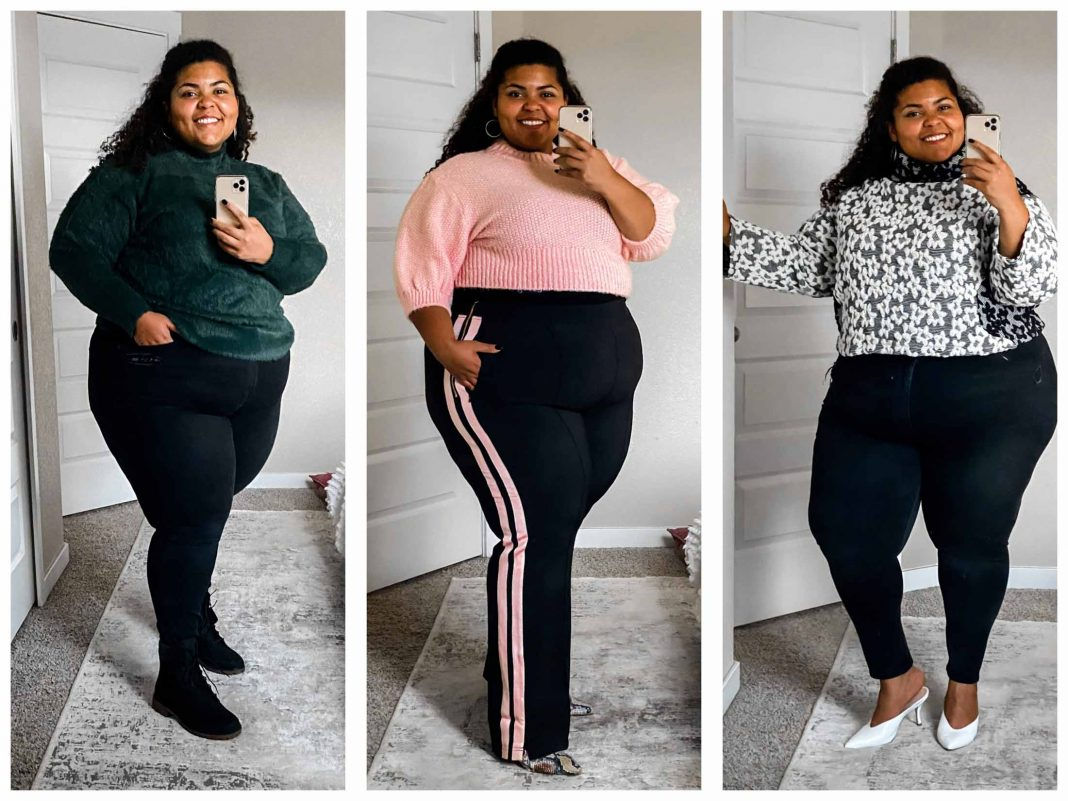 I was living my best life browsing Verishop's plus-size fashion & found track pants totally my vibe + cute, cozy fall sweaters. Here's my review.