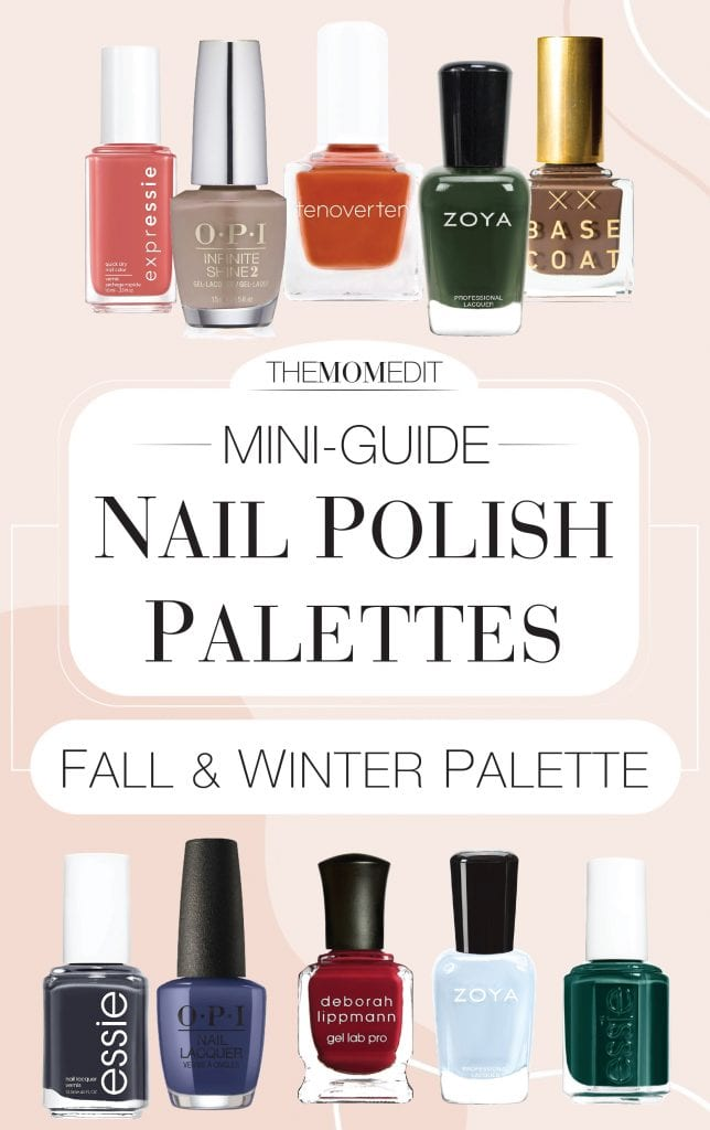 We're giving our at-home manicures a special je ne sais quoi. Nails in fall & winter rainbow colors — Here's all the polish for 2 chic, subtle palettes.