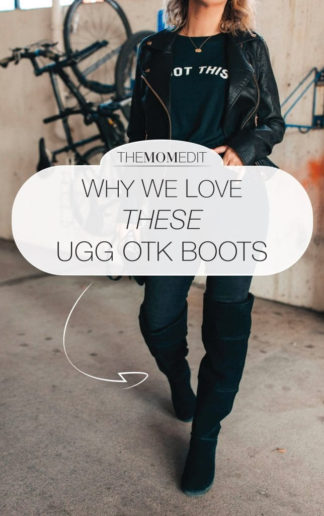 UGG Classic over-the-knee boots are like a warm hug on our feet (& legs). They're SO comfy & a winter solution for women who are always cold.