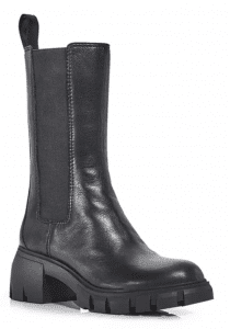 If a Chelsea boot & some chunky Mary Janes from the '90s had a baby...& then she grew up...you'd get...these chunky, lug sole boots.