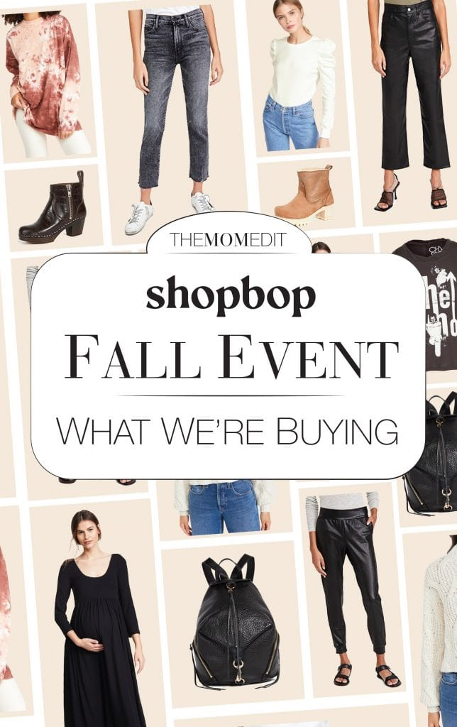 Shopbop's Fall Event is on! These sales are perfect for stocking up on fashion staples -- MOTHER denim, Free People sweaters, Doc Marten boots....