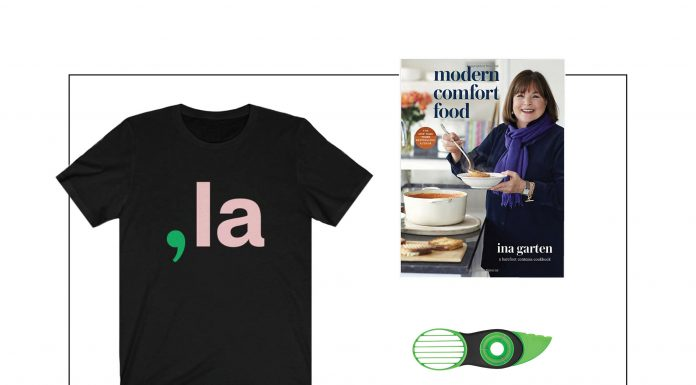Ina Garten has Modern Comfort Food for us & Amazon reviews have us carting kitchen gear. Also, comfort for those outdoor gatherings + a fun tee.