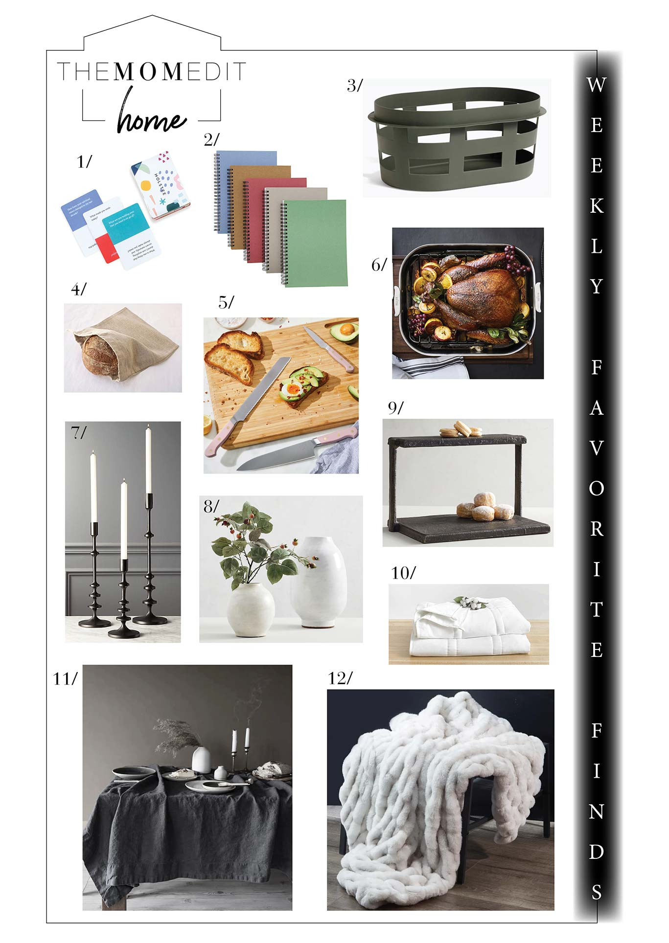 Weekly Favorite Finds include joy for the holiday table, home goods in the Verishop Sale & Neffi Walker's The Black Home. Shop it here.