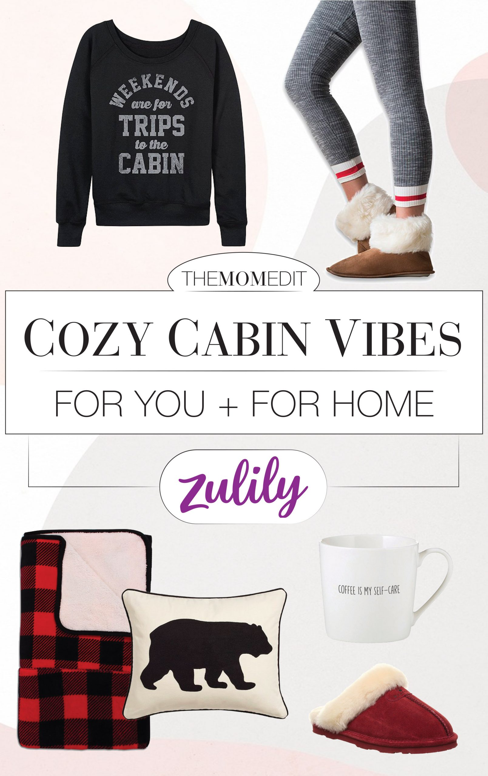 It's time to get cozy, so we're eyeing Zulily's Fall Holiday Shop for comfy clothes & home decor w/ cabin vibes. Think loungewear & plaid throws...