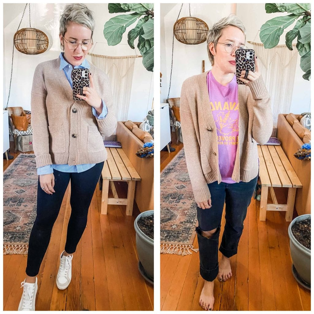Cardigans, jackets, joggers & fleece...J.Crew is a classic for layering outfits. We tried a few faves for fall outfits — let's see how they fit!