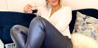 We're talkin' faux leather pants — in Spanish. 13 ideas para usar tus pantalones de cuero mujer -- en la casa, casuales, y ocasiones formales. Únete a nosotras.