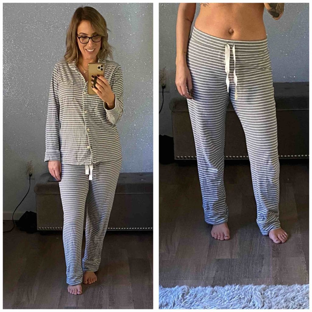 Nordstrom's Moonlight Pajamas vs. J. Crew's Dreamy Cotton Pajamas. Which pj set is better & why? (Spoiler alert, we love them both.) Here's why.