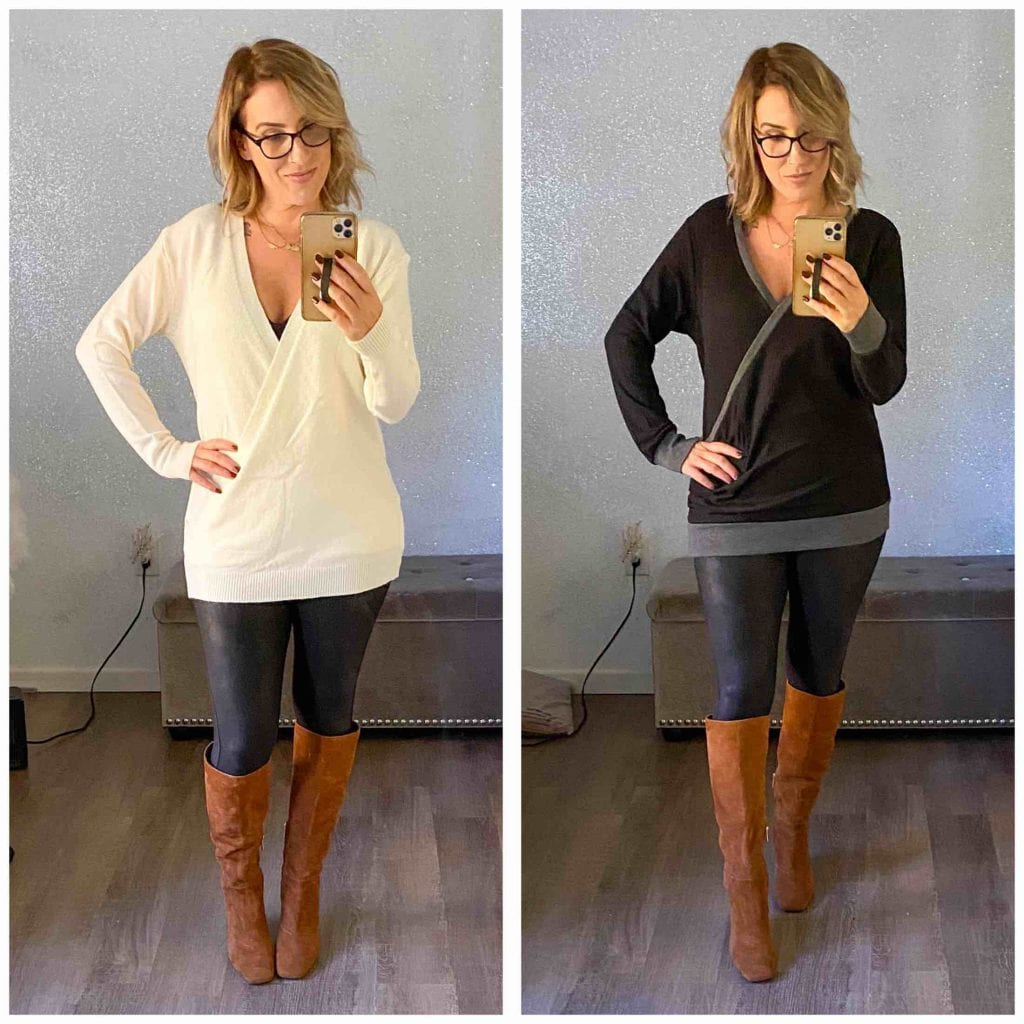 Cute, warm & long sweaters to wear w/ leggings are on order. Affordable? Even better. We're trying 8 under $35 from Amazon -- let's get cozy.
