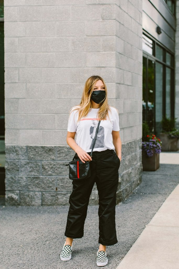 Found: The black NINOBrand Tommy Pants are downright cool. Windproof, with a zipper to execute a cropped look & from a small biz. Here's how to style 'em.