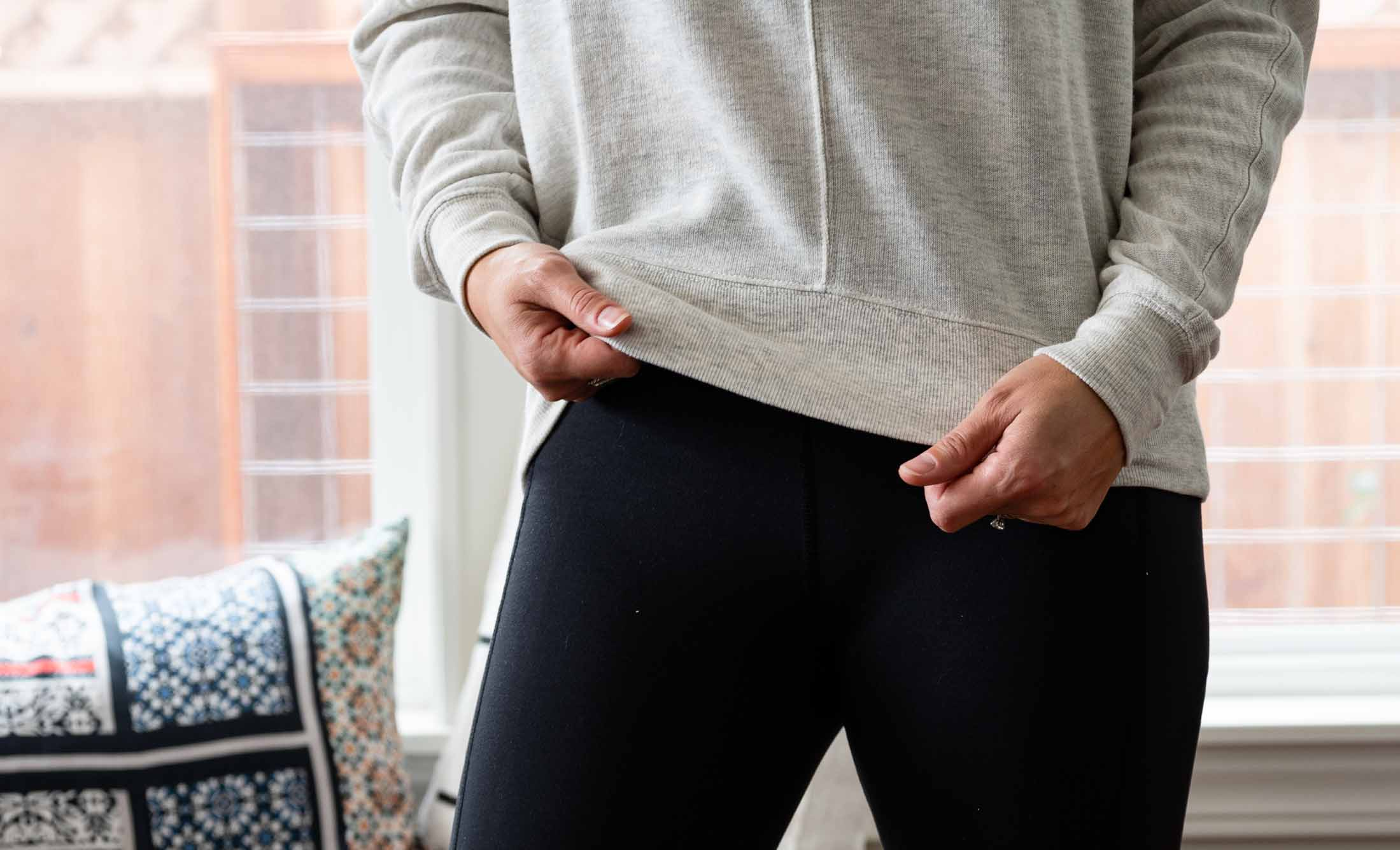 Introducing the best black leggings I've put on my body. (Not click-bait, the High Waist Cosy Tech leggings are legit.) Plus, more Zella pieces getting me through this holiday-at-home season.