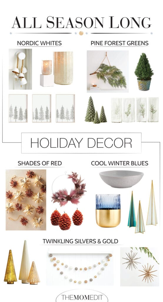 Our winter decorating shortcut is basically holiday vibes, in cool color themes that are classy & can stay up all season long. It's a wintery win (ha!)