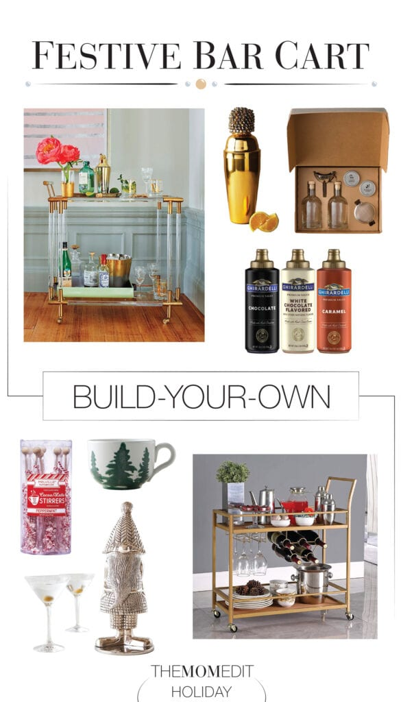From hot toddies to hot cocoa, we're here for your bar cart styling needs. All the essentials for a festive holiday bar at home — even for tea lovers.