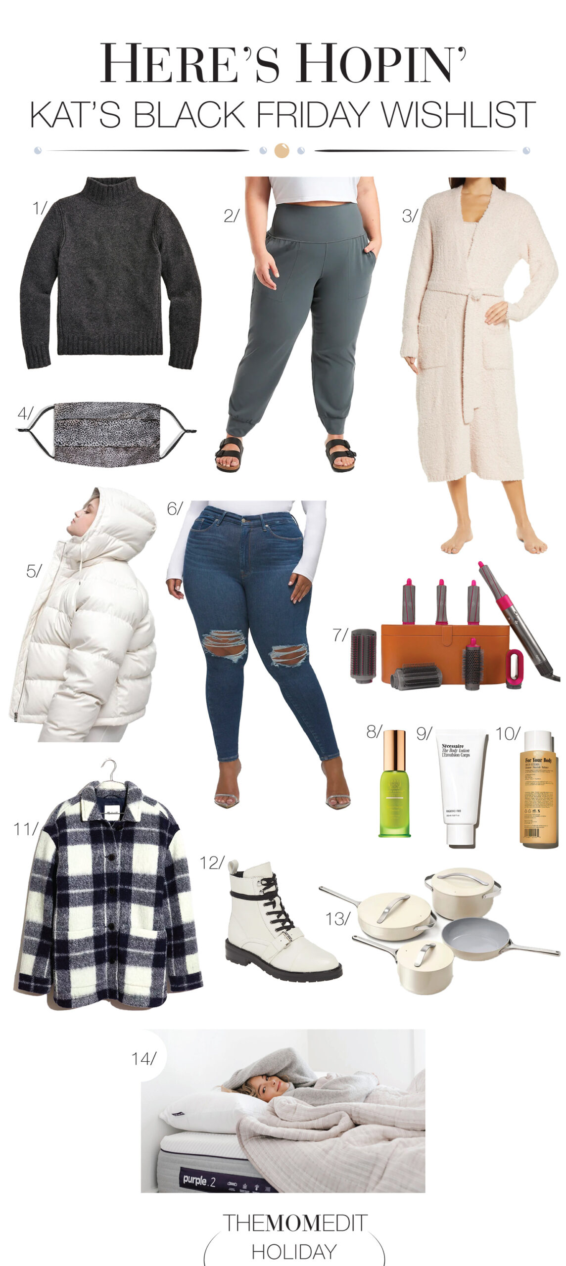 Athleta joggers, the Slip silk face mask, Dyson Airwrap, a Madewell shacket & really good clean beauty...the Black Friday deals we hope to shop online!