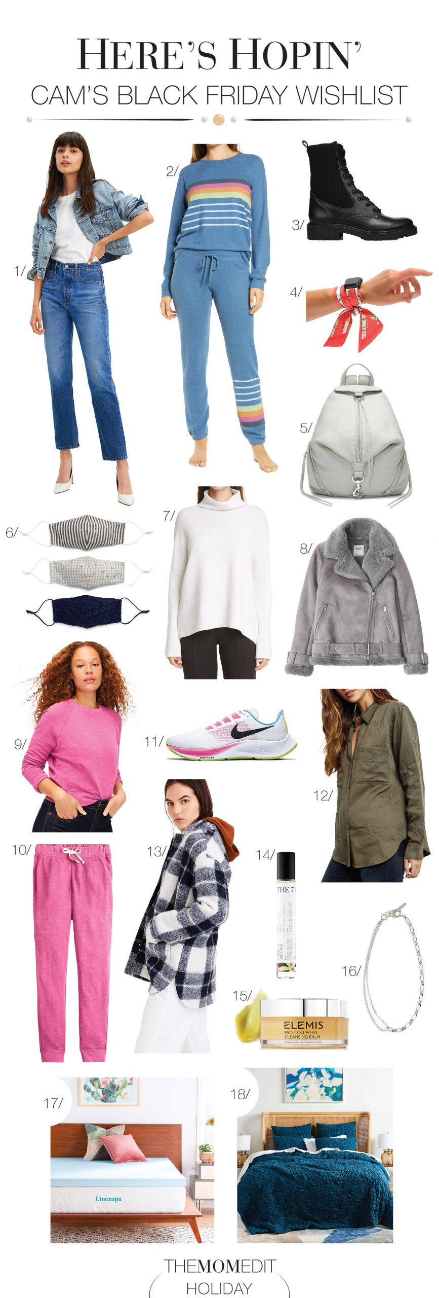 We're eyeing all things pretty in this Black Friday shopping list...Rebecca Minkoff, Vince, Rails, Elemis & even an Anthro quilt. Let the deals roll in...