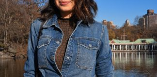 Found: the perfect layering piece. A cute, tie-waist denim shirt that's part button down, part jacket. Paired with skinny jeans & layered over or under, it just works.