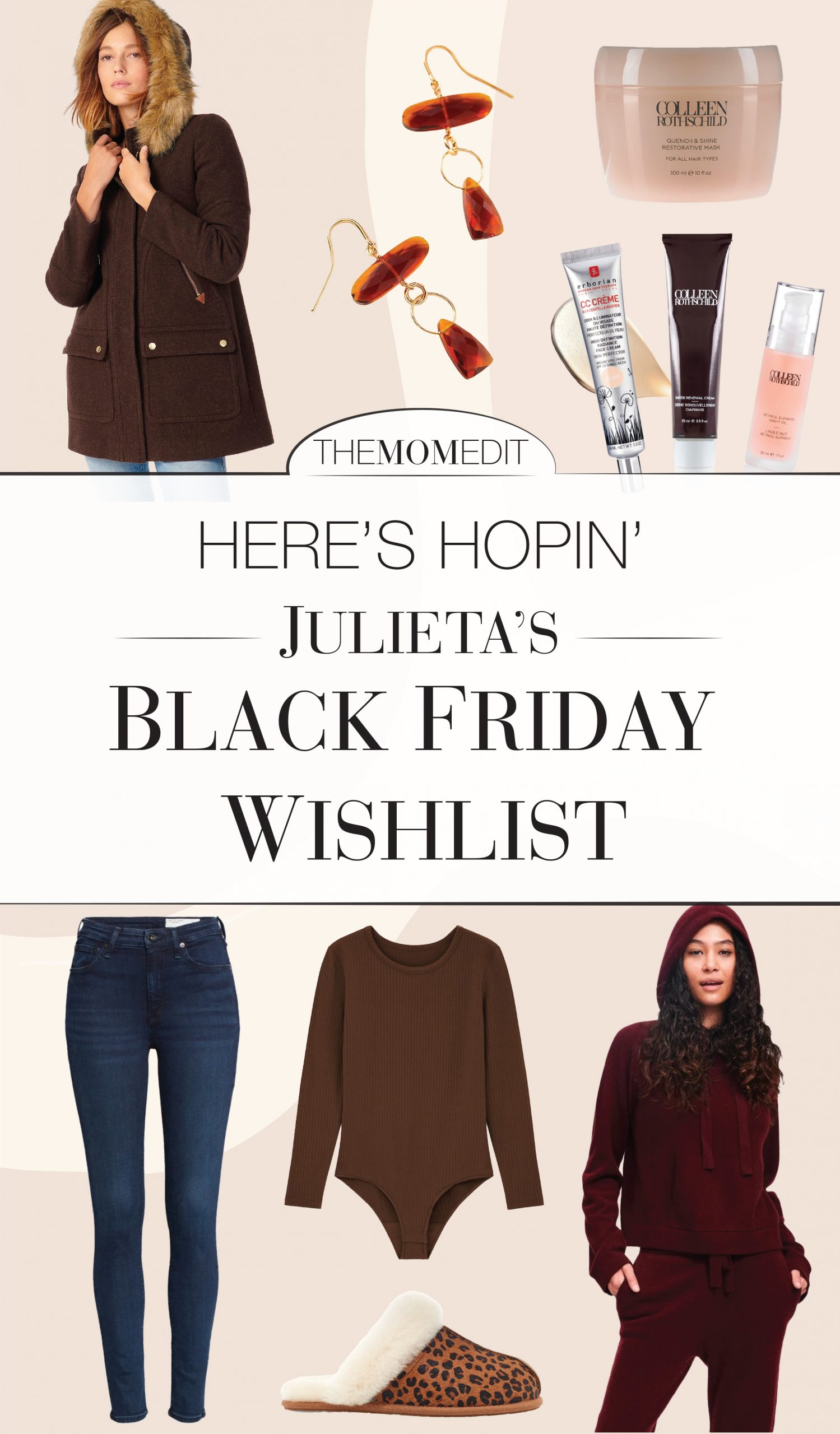 West Elm for home, Colleen Rothschild for skin, Uniqlo HEATTECH layers to stay warm...we're prepping for winter w/ our Black Friday shopping list.