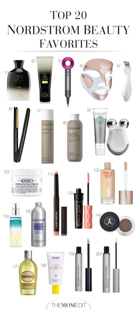 From RevitaLash & RevitaBrow to Charlotte Tilbury Flawless Filter, the Dyson hair dryer & a light-therapy facial mask — our top hair, makeup & skincare products at Nordstrom!