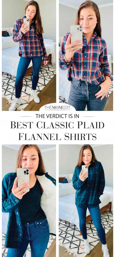 The best classic flannel shirt has the perfect mix of sexy & boyfriend. We try 4 — from L.L.Bean Sherpa-lined Scotch Plaid to Legendary Whitetails. Come see.