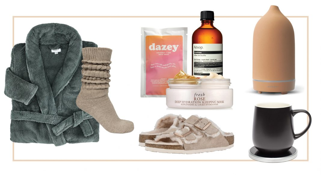 Calming, Zen-like gifts? For the wife, BFF, grandma, teacher, caregiver, (self)? Make it a self-care set or basket. 18 presents for pause, inside.