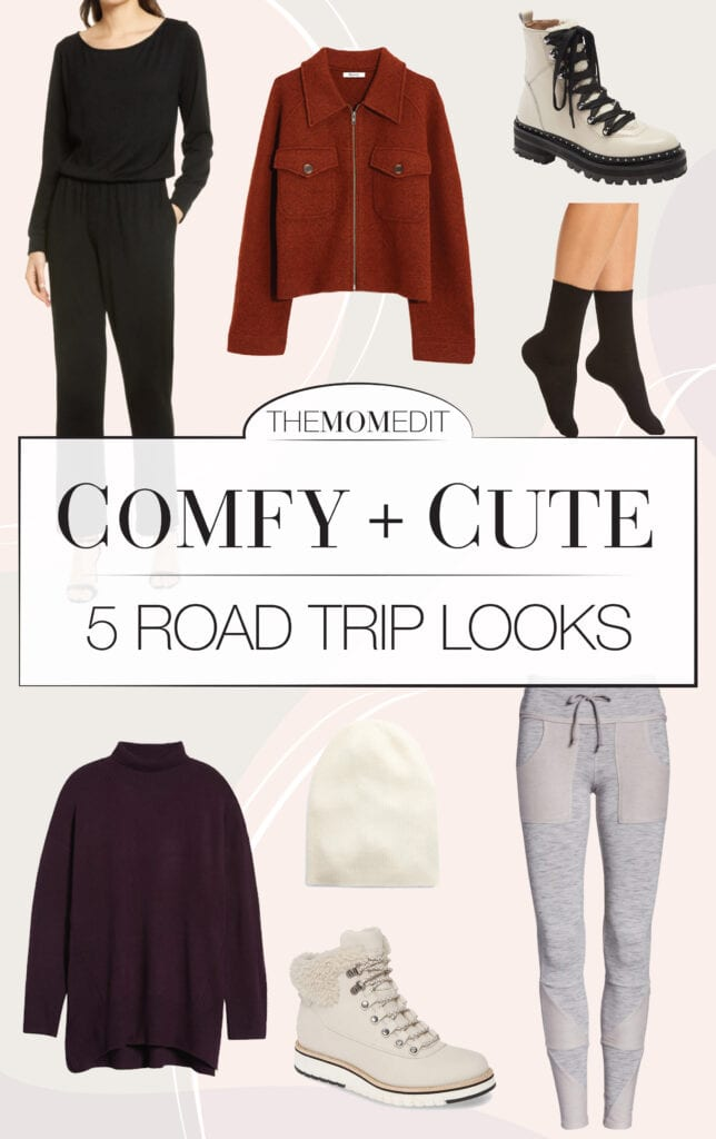 Prepping for a long car ride is a lot more fun when we look cute & feel comfy. From leggings to jumpsuits & moto pants, 5 stylish road trip outfits.