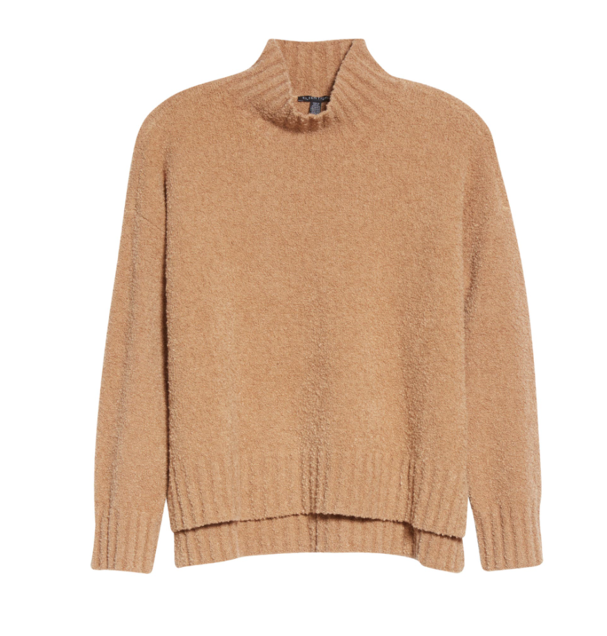 Cute sweaters that are soft, but not cashmere? Found. J.Crew, Anthropologie, EILEEN FISHER...we're trying silk, cotton & wool blends for stylish warmth.