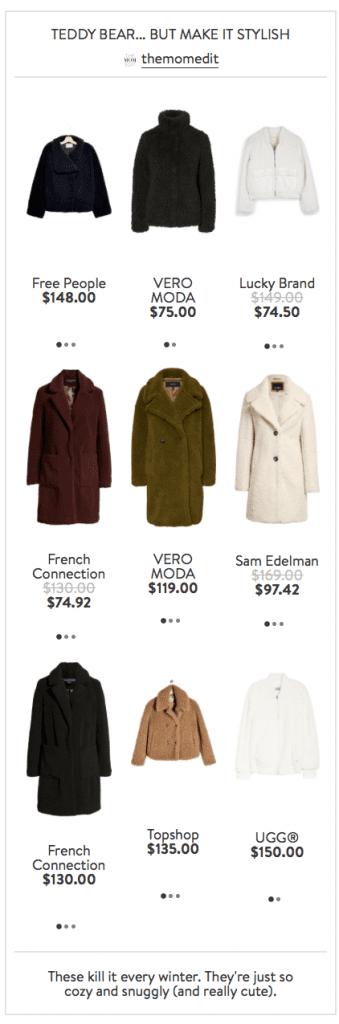 Nordstrom Teddy Coats