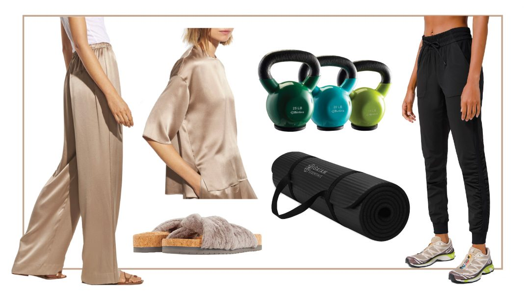Everything at home. Gym, yoga, massage, naps & lounge sets (we mean activewear) to pair it with. Gift it to the mama who needs some self-care.