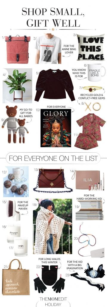 Consider this a shop small holiday gift guide of seriously cool, wildly unique & practical gifts — for everyone on your list. Sustainable, Black-owned, local. It's all here.
