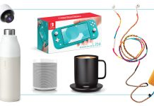 Ahhh, yes. For comfort at home — electronics. Cool tech gifts from Nintendo Switch to projectors & speakers — for the whole fam (kids, teens, him & her).