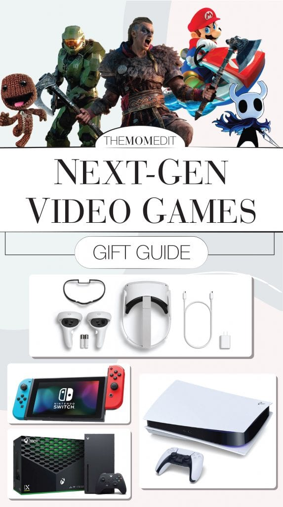 It's all here! Xbox Series X, PS5, Nintendo Switch & Virtual Reality (Oculus, Valve, Vive.) Tried-&-true gifts re: next generation video game consoles. Shop 'em here.