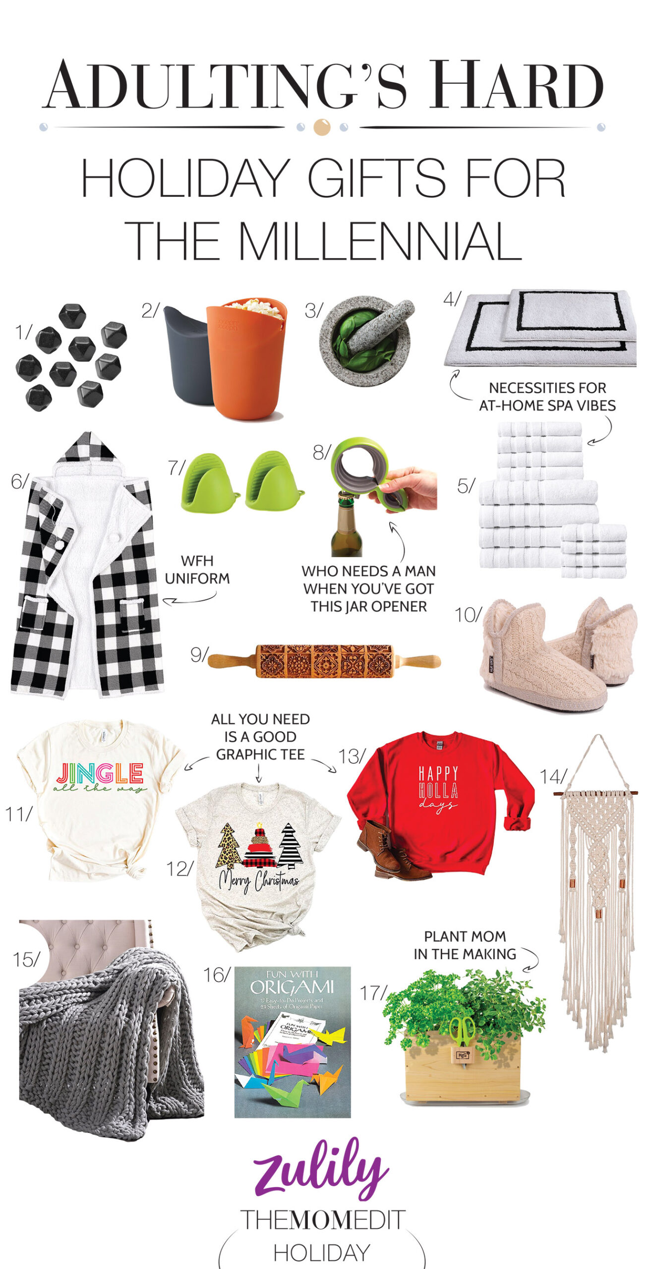 DIY macrame wall hangers, plant boxes & kitchen gadgets. Yup, Zulily's got all the millennial gift ideas in their holiday shop. Fun & done. #addtocart