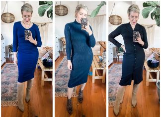 Midi dresses are stretchy, flattering & sexy. We're styling 6 — long sleeve, short sleeve, knit, comfy & chic that pair perfectly w/boots (or not).