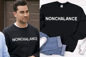 An homage to Moira's vocabularly? The Schitt's Creek fan know what's up. A Schitt's Creek Christmas sweater or ornament is also on our best gift list